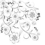 Decoratieve de bloemachtergrond van Beautifull Stock Foto's