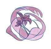 Decoratieve de Bloemjugendstil van de waterverfillustratie Stock Afbeelding