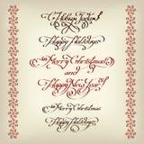 Decoratieve de kalligrafie van de Xmasstitel Royalty-vrije Stock Afbeelding