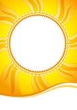 Decoratieve de zomer zonnige vectorachtergrond Royalty-vrije Stock Foto's