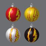 Decoratieve die Ballen voor Kerstboom worden bevlekt Royalty-vrije Stock Afbeelding
