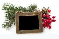 Decoratieve die Kerstmissamenstelling op wit wordt geïsoleerd stock foto