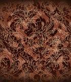 Decoratieve donkere chocoladeachtergrond Stock Fotografie