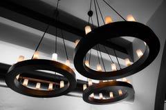 Decoratieve elektrische lichten Stock Foto
