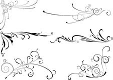 Decoratieve elementen. Stock Afbeeldingen