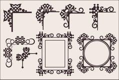 Decoratieve elementen Stock Foto's