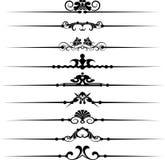 Decoratieve elementen Royalty-vrije Stock Foto's