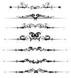 Decoratieve elementen Stock Fotografie