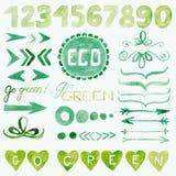 Decoratieve elementen Eco Royalty-vrije Stock Afbeelding
