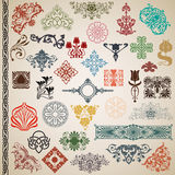Decoratieve elementen en patronen in de vector Royalty-vrije Stock Fotografie