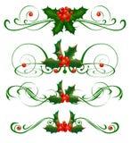 Decoratieve elementen. Hulst Royalty-vrije Stock Afbeelding