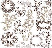 Decoratieve Elementen - Retro Uitstekende Stijl Stock Fotografie