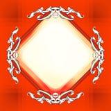 Decoratieve elementen in uitstekende stijl voor decoratielay-out, fram Royalty-vrije Stock Foto's