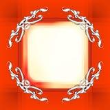Decoratieve elementen in uitstekende stijl voor decoratielay-out, fram Stock Afbeelding