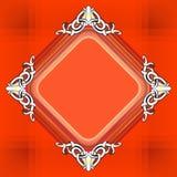 Decoratieve elementen in uitstekende stijl voor decoratielay-out, fram Royalty-vrije Stock Afbeelding