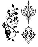 Decoratieve elementen van een patroon - a   Royalty-vrije Stock Afbeeldingen