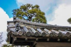 Decoratieve elementen van Ninomaru-Paleis façade stock fotografie