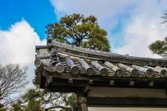 Decoratieve elementen van Ninomaru-Paleis façade royalty-vrije stock foto