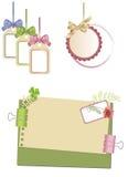 Decoratieve elementen voor een ontwerp Stock Afbeeldingen