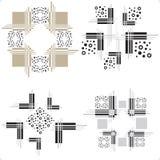 Decoratieve elementen - Voorraadillustratie Stock Foto