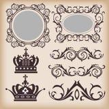 Decoratieve elementen. Wijnoogst Royalty-vrije Stock Afbeelding