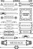 Decoratieve elementen. Wijnoogst Royalty-vrije Stock Foto's