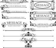 Decoratieve elementen. Wijnoogst Royalty-vrije Stock Afbeeldingen