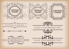 Decoratieve elementen. Wijnoogst Stock Foto's