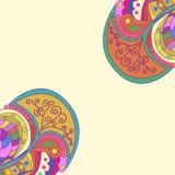 Decoratieve elementenhoeken Abstracte uitnodigingskaart Het ontwerp van de malplaatjegolf voor kaart Stock Afbeeldingen