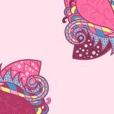 Decoratieve elementenhoeken, het ontwerp van de malplaatjegolf voor uitnodigingskaart Stock Afbeelding