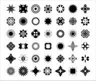 42 decoratieve elementenreeks Stock Foto
