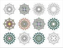 Decoratieve elementenrozet Royalty-vrije Stock Foto