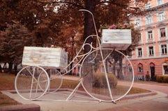 Decoratieve fiets Stock Foto's