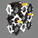 Decoratieve flessentribune met wijn 3D Illustratie Royalty-vrije Stock Foto