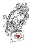 Decoratieve fotocamera en bloemen, voor overhemdsontwerp Royalty-vrije Illustratie