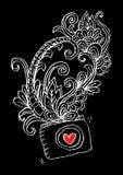 Decoratieve fotocamera en bloemen, voor overhemdsontwerp Vector Illustratie