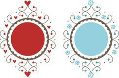 Decoratieve frames royalty-vrije illustratie