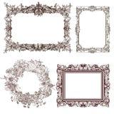 Decoratieve frames Royalty-vrije Stock Foto's