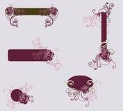 Decoratieve frames Stock Afbeelding