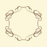 Decoratieve frames Goed gebouwd voor het gemakkelijke uitgeven Vector illustratie Stock Fotografie