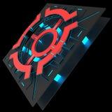 Decoratieve futuristische kleurenachtergronden 3D Illustratie Stock Afbeeldingen