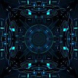 Decoratieve futuristische kleurenachtergronden 3D Illustratie Royalty-vrije Stock Foto
