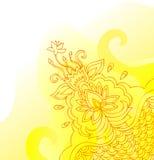 Decoratieve gele banner royalty-vrije illustratie
