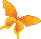 Decoratieve gele vlinder stock illustratie