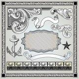 Decoratieve geplaatste elementen Royalty-vrije Stock Foto