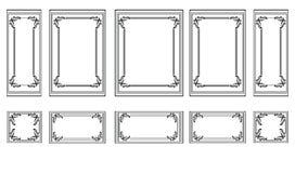 Decoratieve Gesierde kaders voor muren of achtergronden Stock Foto's