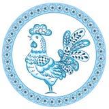 Decoratieve gestileerde haan Royalty-vrije Stock Afbeeldingen