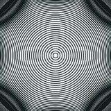 Decoratieve gevoerde hypnotic contrastachtergrond Optische illusie, vector illustratie