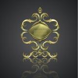 Decoratieve glanzende banner embleem, Royalty-vrije Stock Foto's