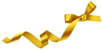 Decoratieve gouden die boog op wit wordt geïsoleerd Royalty-vrije Stock Afbeeldingen